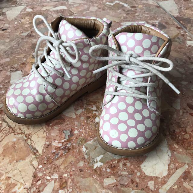 H&M點點女寶短靴
