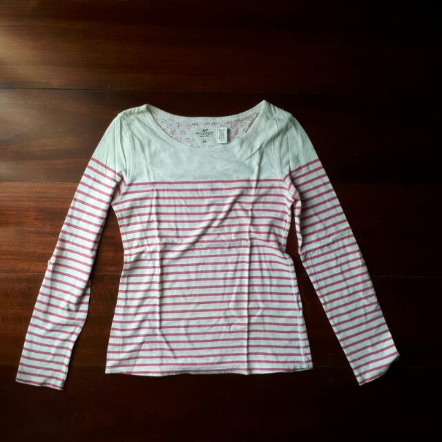 REPRICED H&M Long Sleeved Striped Top