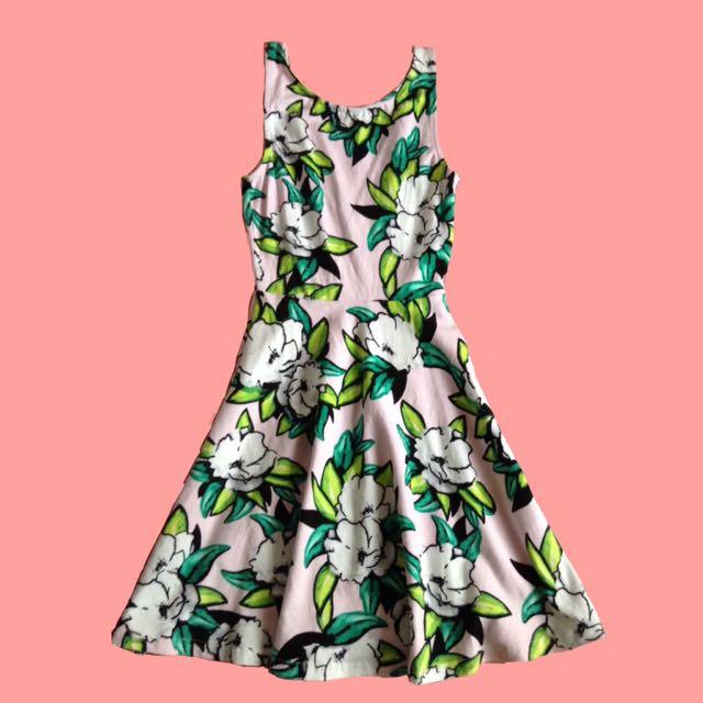 H&M Pastel Pink Floral Dress
