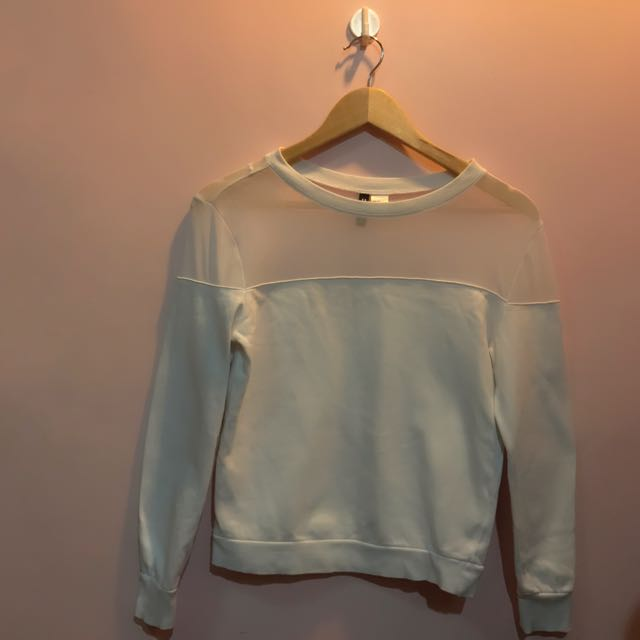 H&M Pullover with Sheer Details