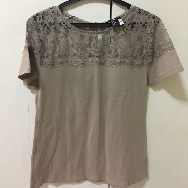 H&M Top With Lace Details