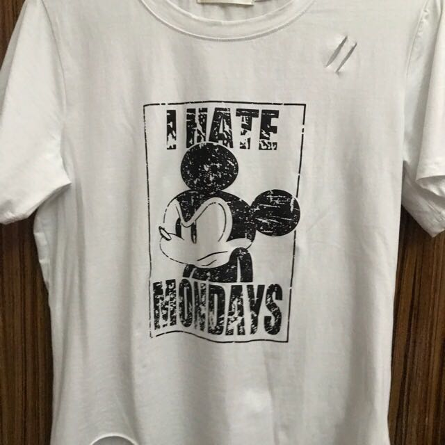 """I Hate Mondays"" Mickey Mouse Tee Shirt"
