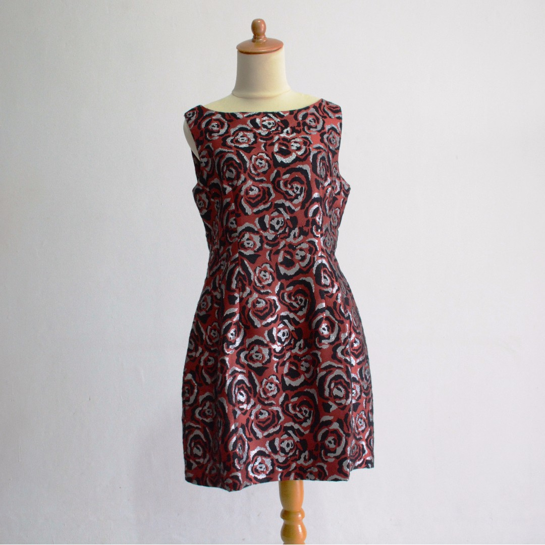 Imported dress from Hongkong - Red Black Rose