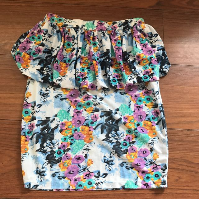 Jellybean Peplum Skirt