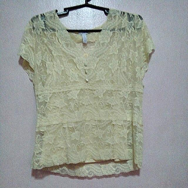 Lace Top (Yellow)