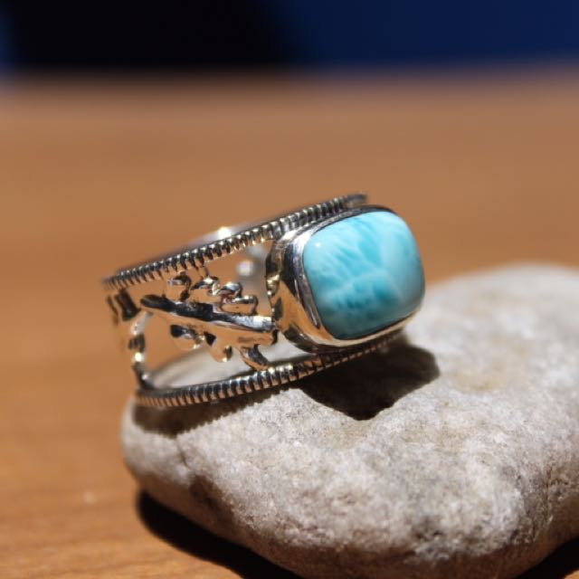 Larimar In Sterling Silver .925 Ring
