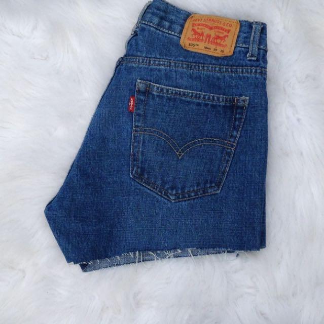 Levis 505 - High Rise Denim Shorts!