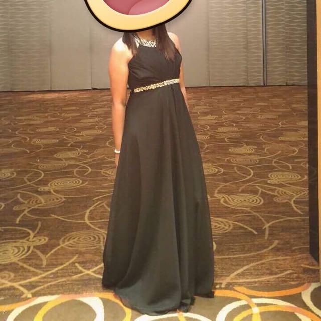 Long Black Dress (Chiffon)