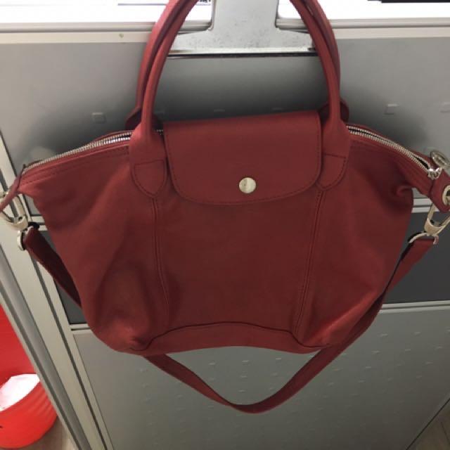 Longchamp羊皮包