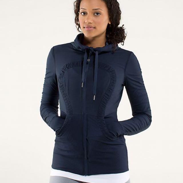 Lululemon Navy Studio Jacket Sweater 6 8
