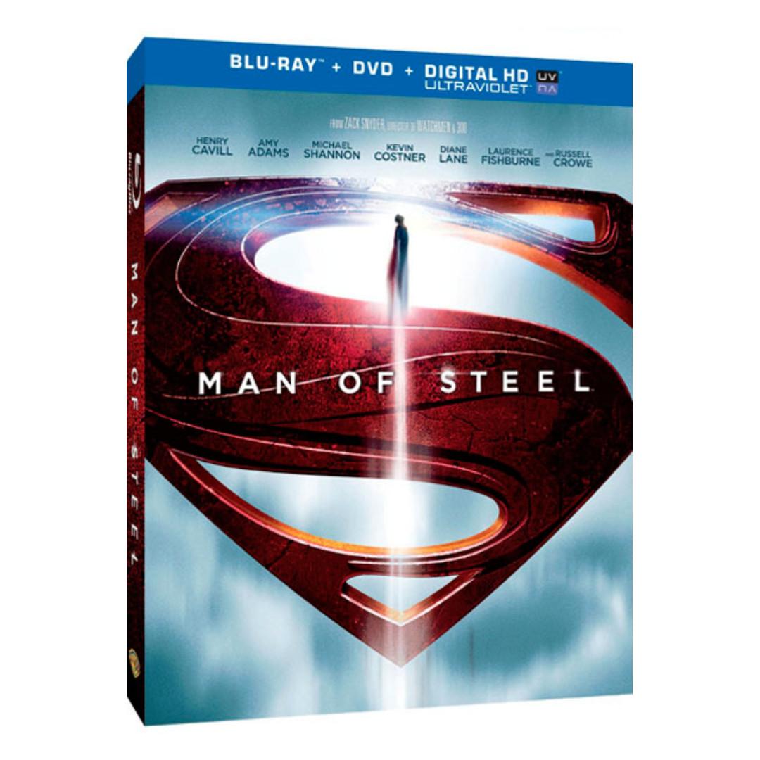 Man of Steel (blu-ray, US, Region A)