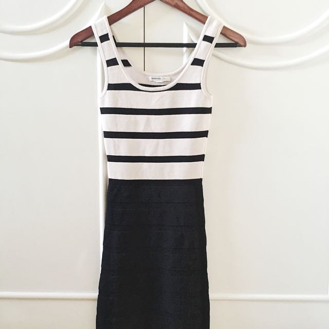 Mango Striped Bodycon Dress