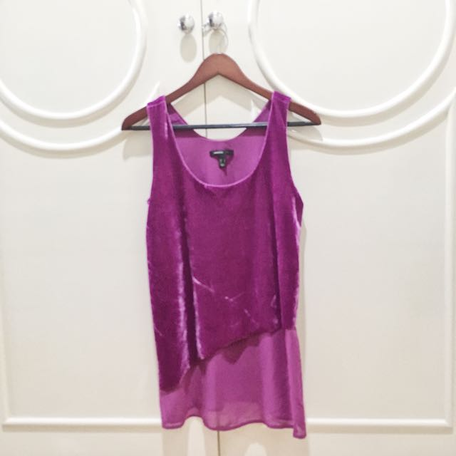Mango Velvet Purple Top