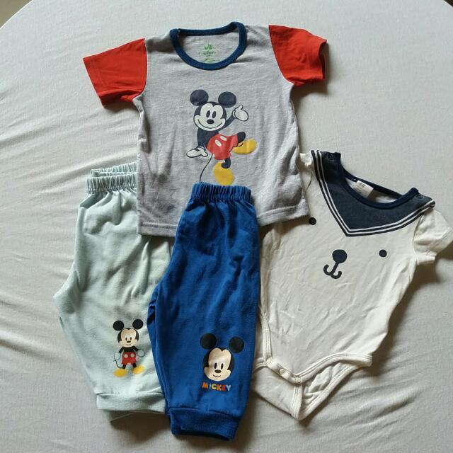 9f2d38a597db mickey disney baby pajamas tshirt H M onesie