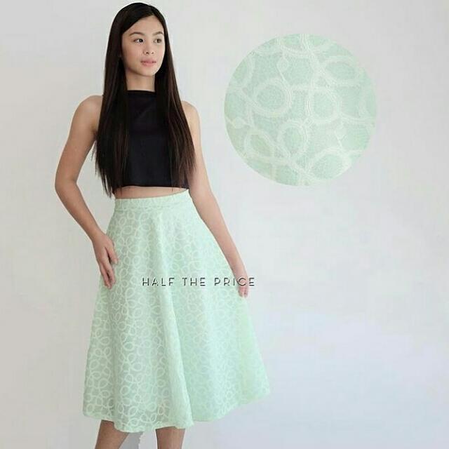 SALE!! SALE!! SALE!!! Mint Lace Skirt