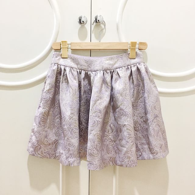 Miss Selfridge Lavander Metallic Skirt