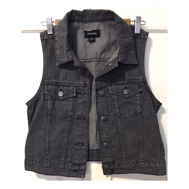 Monkini Denim Vest