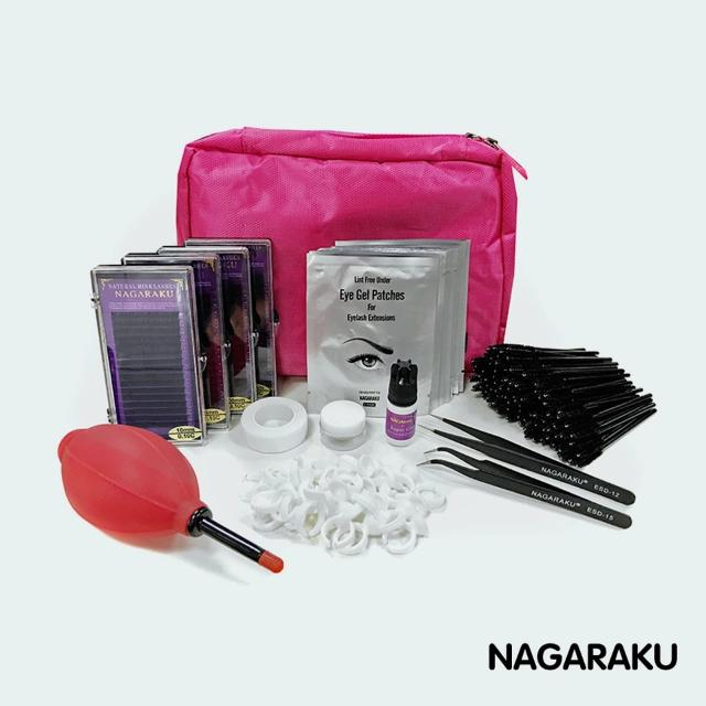 NAGARAKU NEW eyelashes extension kit. #fashionable #eyelashes #extensionset #glue #eyepad #tape #eyelahes #brusth #female #travel #FREESHIPPING