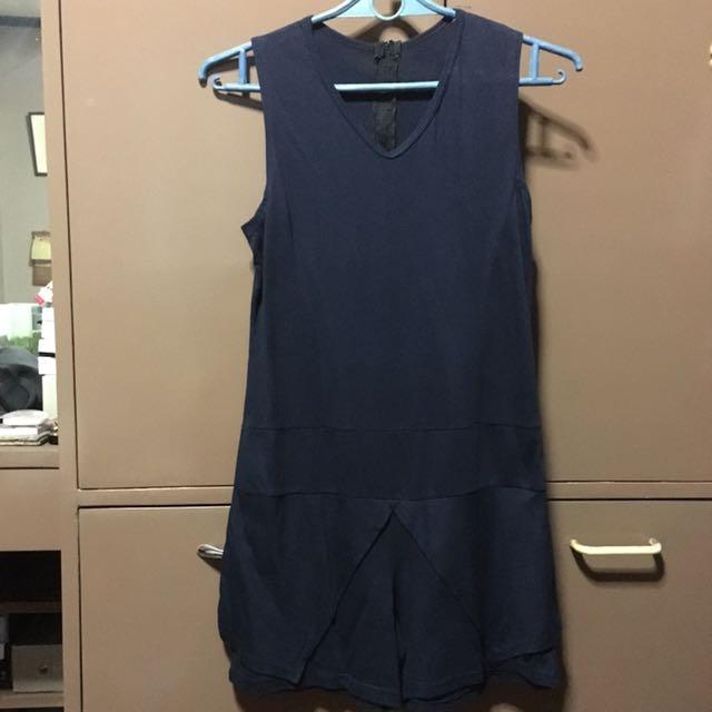 Navy Blue Romper Shorts