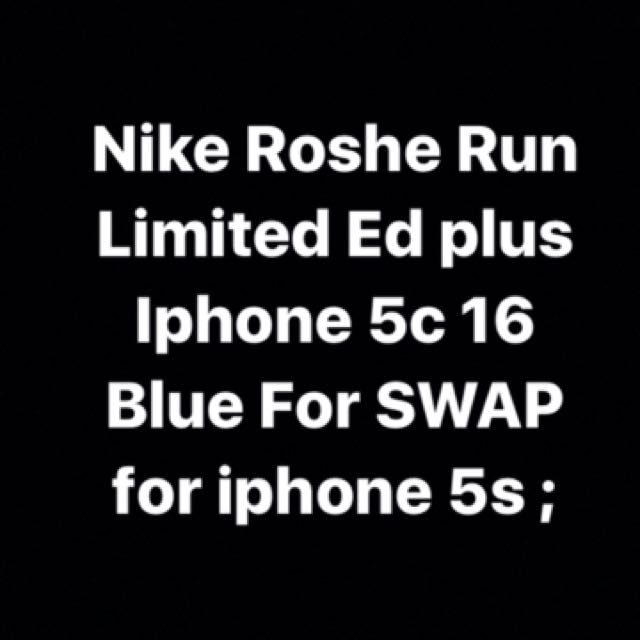 Nike Roshe Run plus Iphone 5c