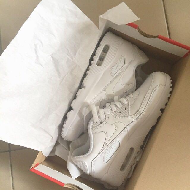 免運!Nike白色airmax運動鞋