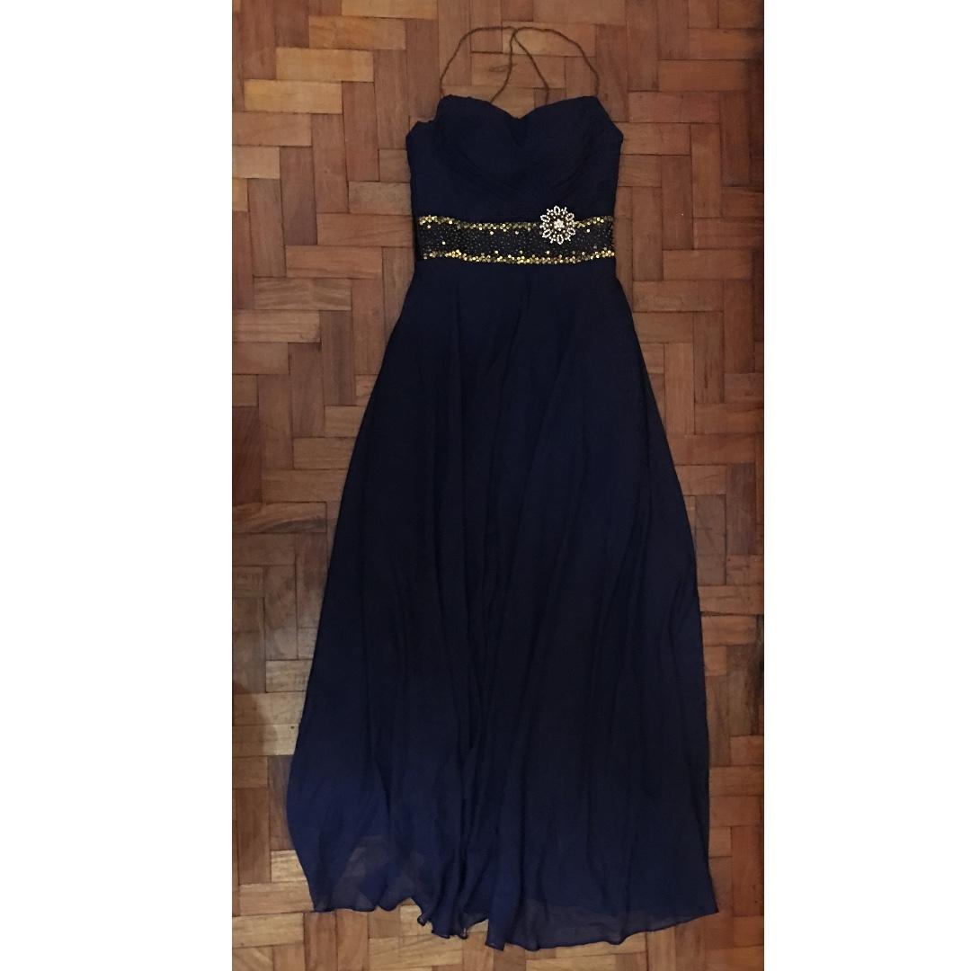 Open Skirt Evening Gown