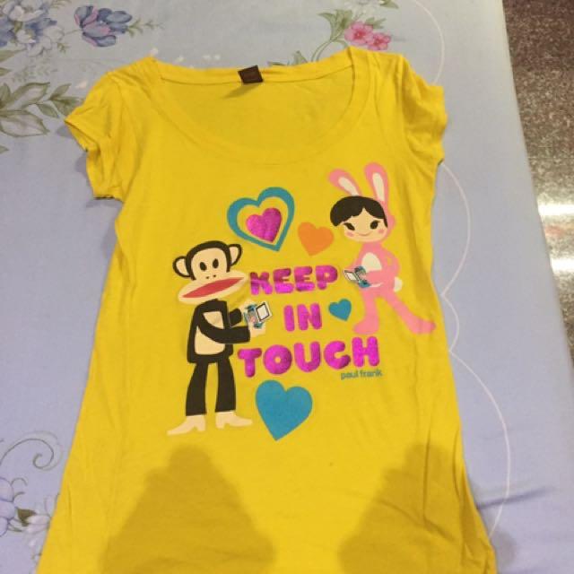 Paul frank黃色T恤