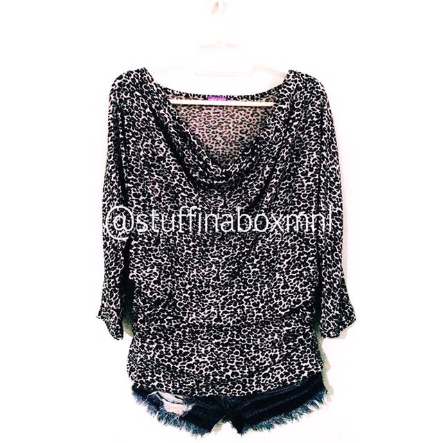 Pieces Leopard Pullover