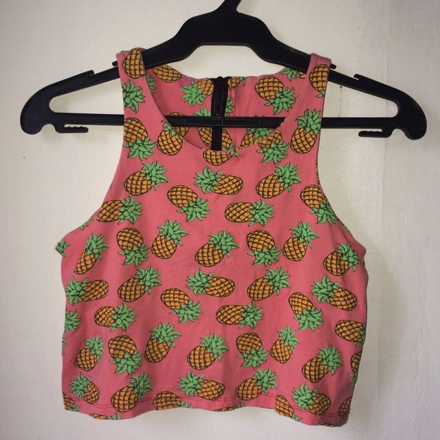 Pineapple Print Sleeveless Top