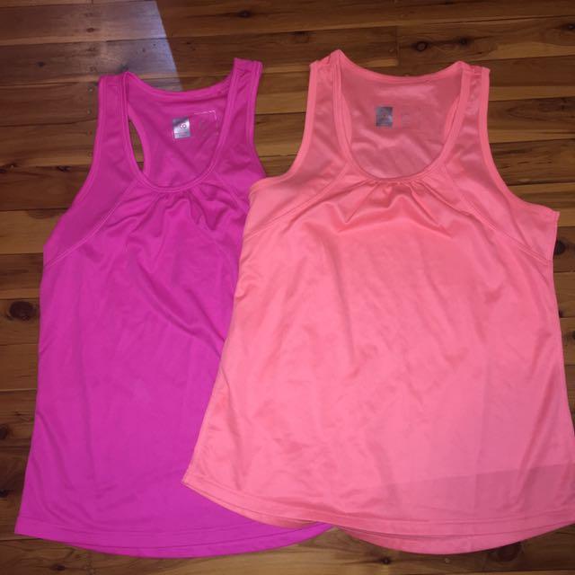 Pink And Orange Sports Shirt