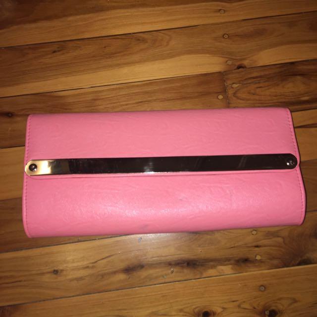 Pink Colette Clutch Bag