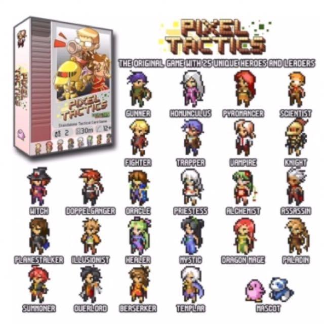 Pixel Tactics Card Game Set