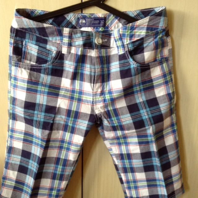 Plaid Shorts S32 /medium To Large