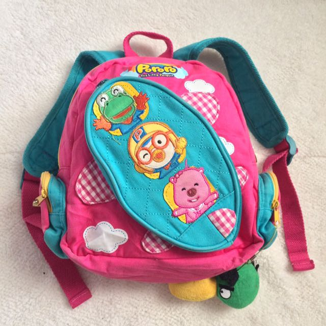 Pororo backpack for kids (girls)