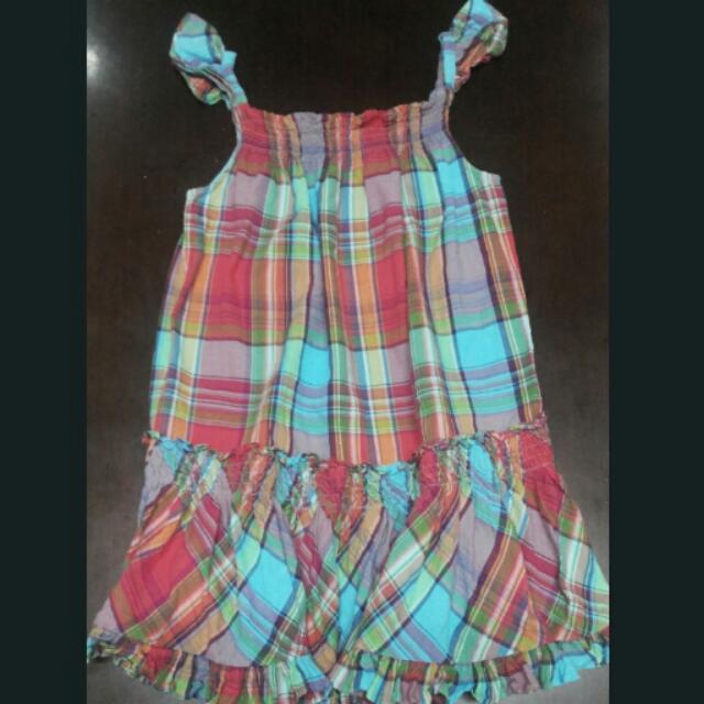 Ralph Lauren Sleeveless Checkered Dress