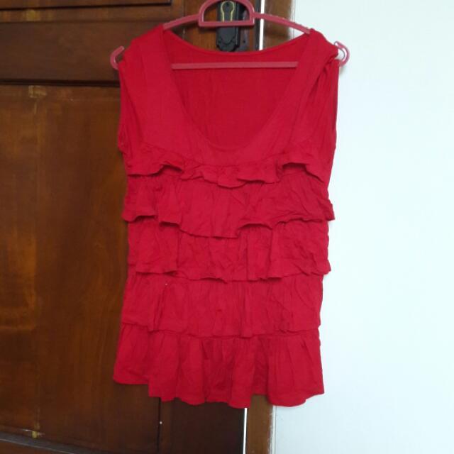 Red Ruffles Shirt