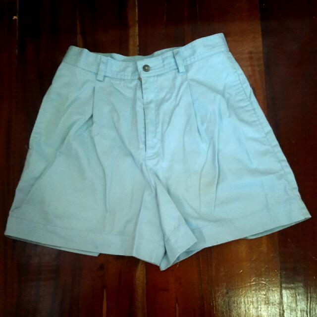Sky Blue Highwaist Shorts