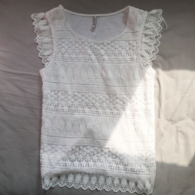 Stradivarius Lace Top