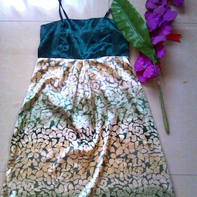 Strappy Satin Dress
