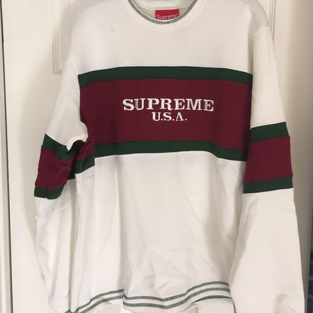 Supreme U.S.A Centre Stripe Long Sleeve