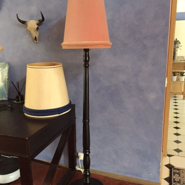 Tall Timber Floor Lamp &2 Shades