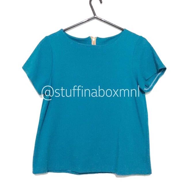 Teal Zippered Shirt