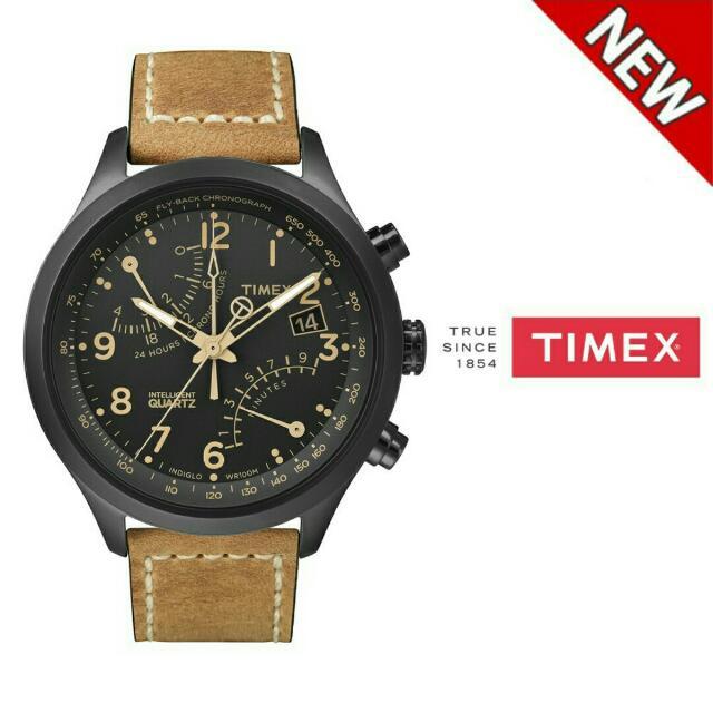 9084772c5 Timex Men's T2n700 Quartz Sl Series Flyback Chronograph Leather ...