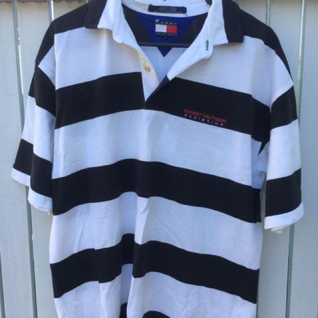 Tommy Hilfiger Athletics Polo Shirt 90's Vintage - Size Large