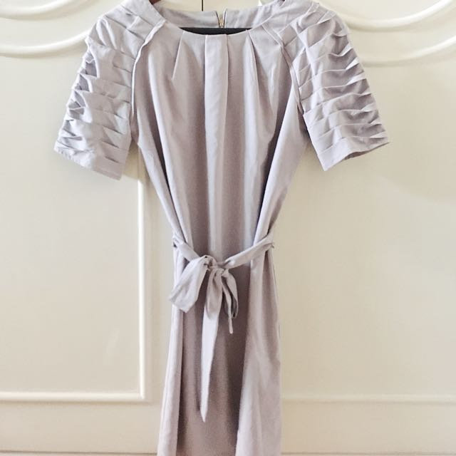 Tory Burch Light Grey Ruffle Dress