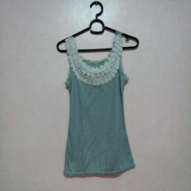 Unbranded Rose Tank Top (Green)