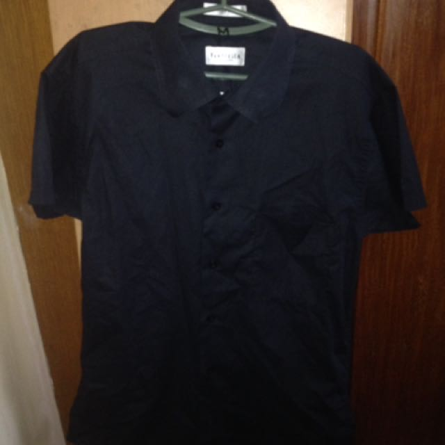 "Van Heusen Black Polo ""Cotton Rich"""
