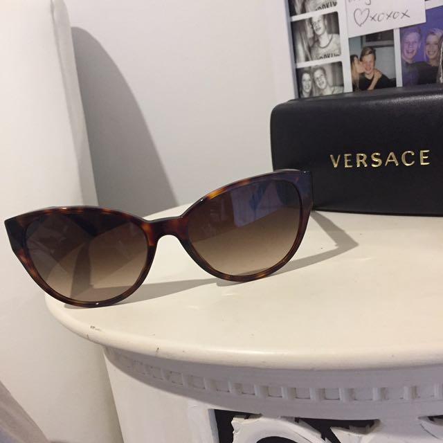 VERSACE Winged Tortoiseshell sunglasses