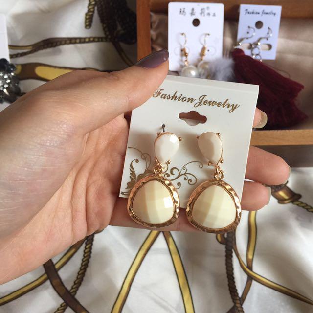 White Earings