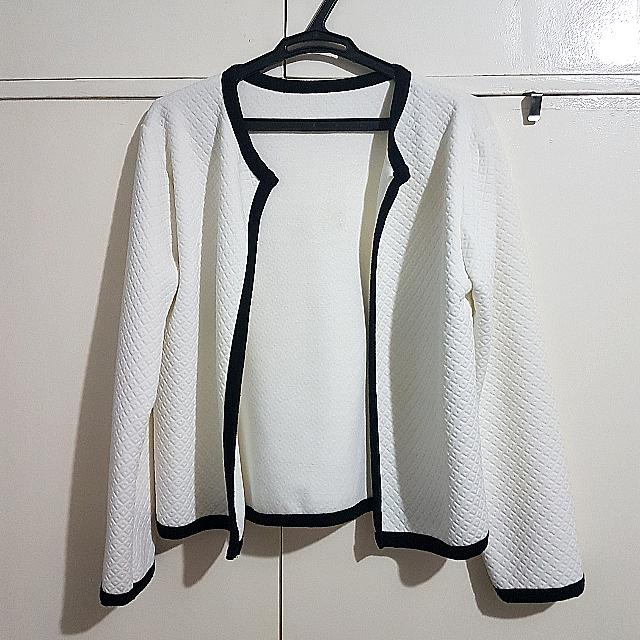 White Jacket With Black Outline